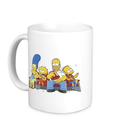 Керамическая кружка Симпсоны в кинотеатре