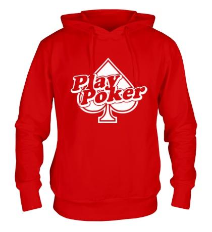 Толстовка с капюшоном Play Poker