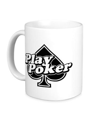 Керамическая кружка Play Poker