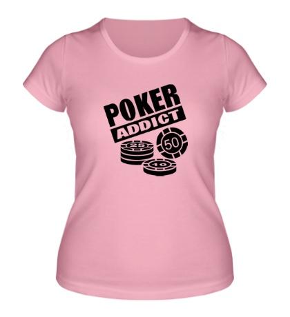 Женская футболка Poker addict
