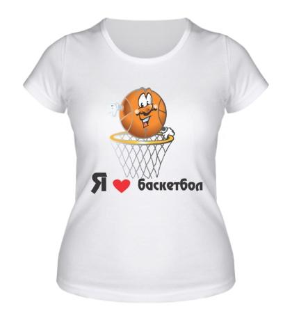 Женская футболка Я люблю баскетбол