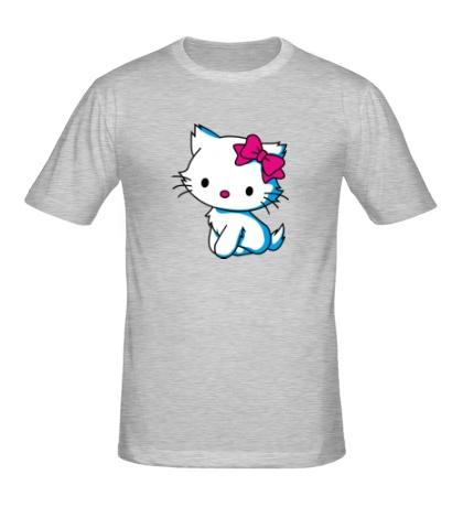Мужская футболка Kitty-котенок