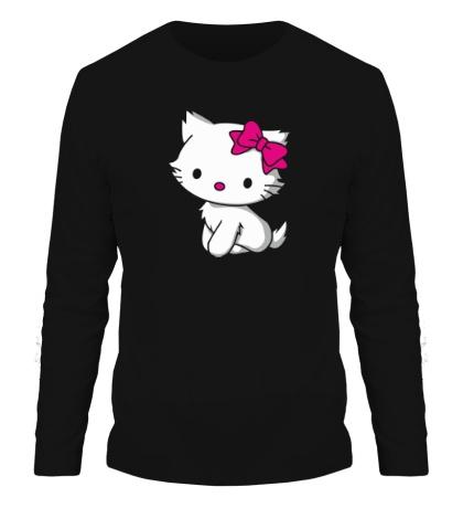 Мужской лонгслив Kitty-котенок