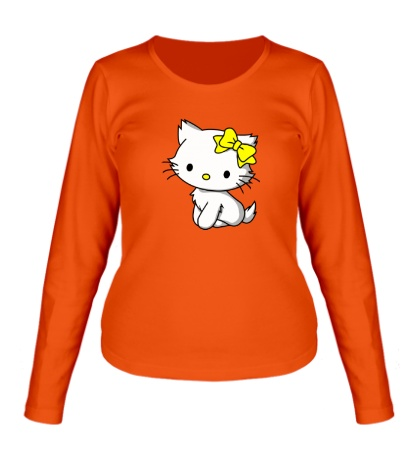 Женский лонгслив Kitty-котенок