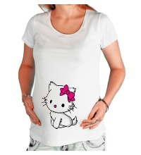 Футболка для беременной Kitty-котенок