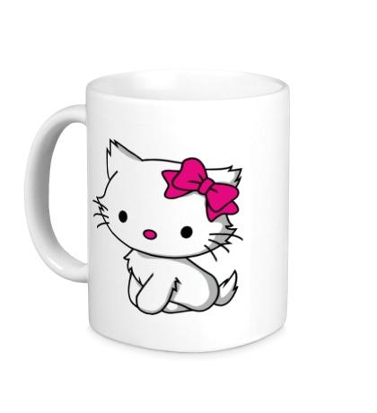 Керамическая кружка Kitty-котенок
