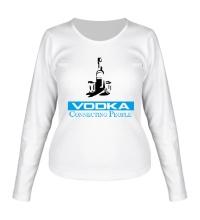 Женский лонгслив Vodka Connecting People