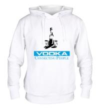 Толстовка с капюшоном Vodka Connecting People