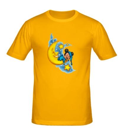 Мужская футболка Mickey спит