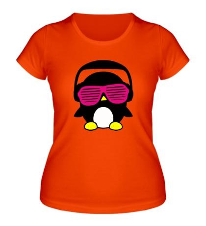 Женская футболка Пингвинчик в очках