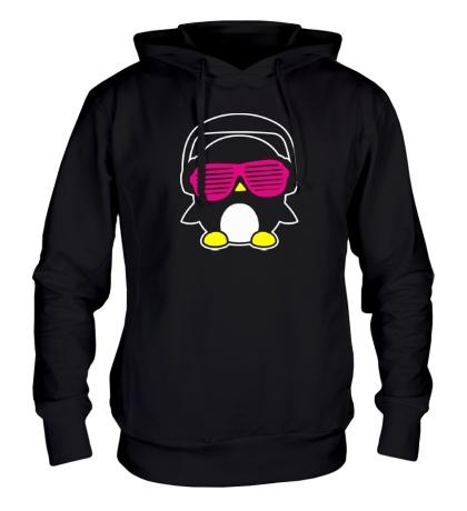 Толстовка с капюшоном Пингвинчик в очках