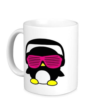 Керамическая кружка Пингвинчик в очках