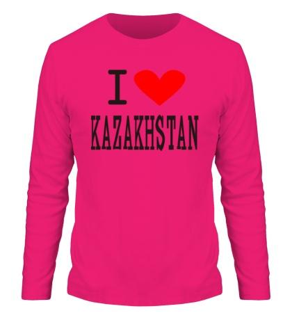 Мужской лонгслив I love Kazakhstan