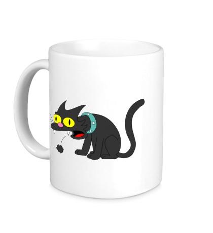 Керамическая кружка Кошка Симпсонов