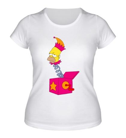 Женская футболка Игрушечный Гомер Симпсон