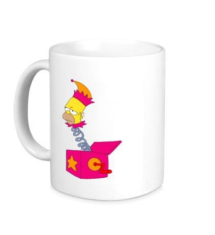 Керамическая кружка Игрушечный Гомер Симпсон