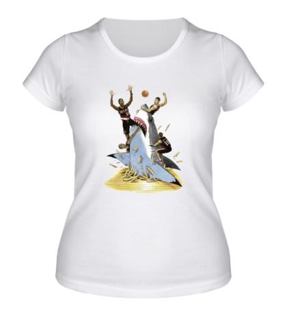 Женская футболка Basketball Shark
