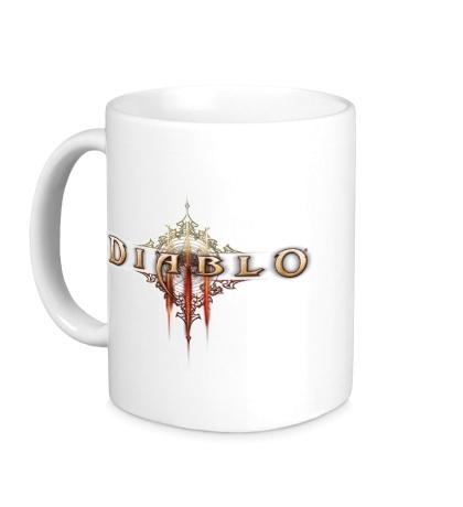 Керамическая кружка Diablo III Logo