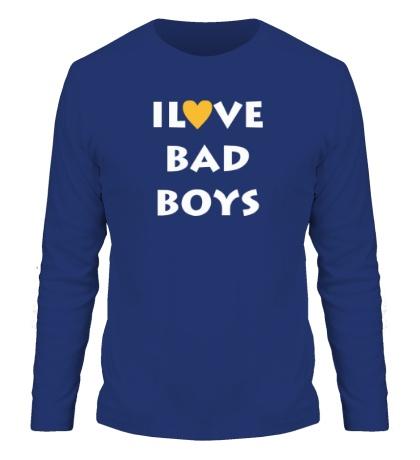 Мужской лонгслив I love bad boys