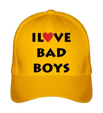 Бейсболка I love bad boys
