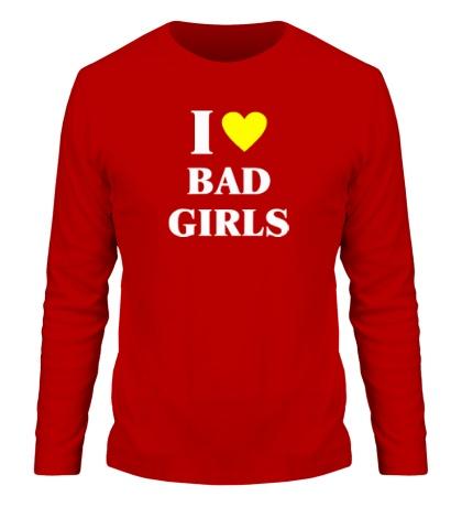 Мужской лонгслив I love bad girls