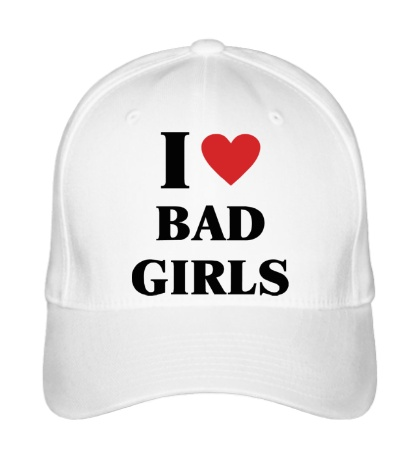 Бейсболка I love bad girls
