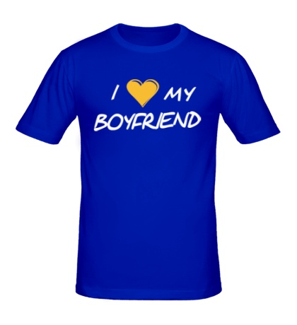 Мужская футболка I love my boyfriend