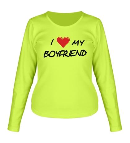 Женский лонгслив I love my boyfriend