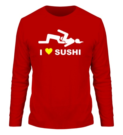 Мужской лонгслив I love sushi
