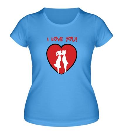 Женская футболка I love you