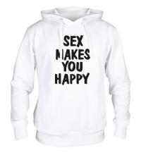 Толстовка с капюшоном Sex makes you happy