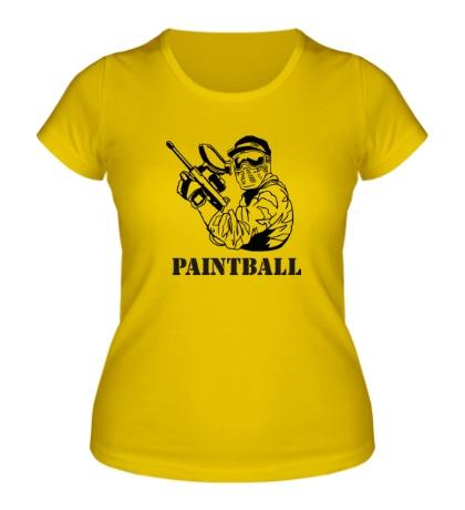 Женская футболка Paintball