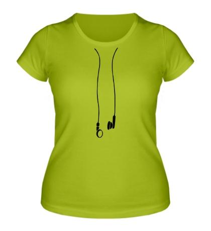 Женская футболка Earphones