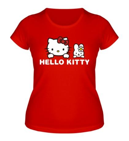 Женская футболка «Hello kitty»