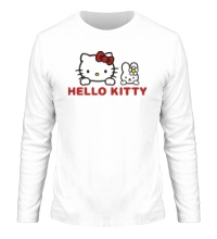 Мужской лонгслив Hello kitty