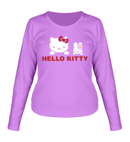 Женский лонгслив «Hello kitty»