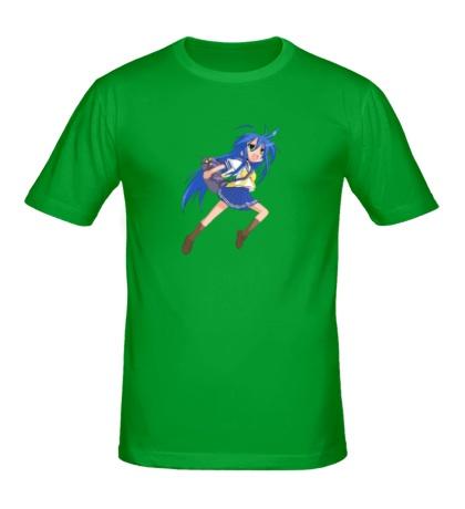 Мужская футболка Аниме школьница