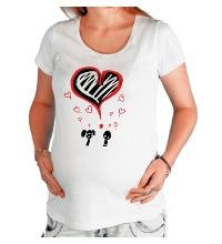 Футболка для беременной Любовь