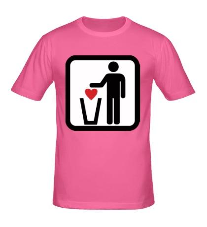 Мужская футболка Любовь в урну