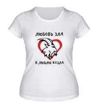 Женская футболка Любовь зла