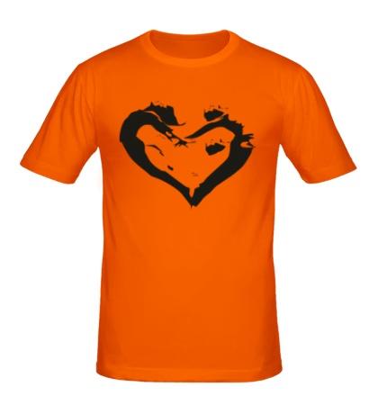 Мужская футболка Сердце