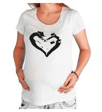Футболка для беременной Сердце