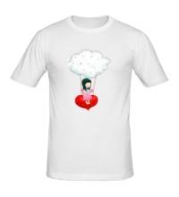 Мужская футболка Девочка на облаке