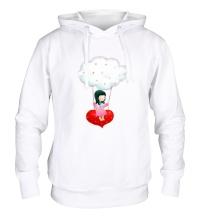 Толстовка с капюшоном Девочка на облаке