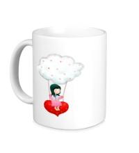 Керамическая кружка Девочка на облаке