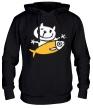 Толстовка с капюшоном «Кот и большая рыба» - Фото 1