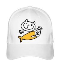 Бейсболка Кот и большая рыба