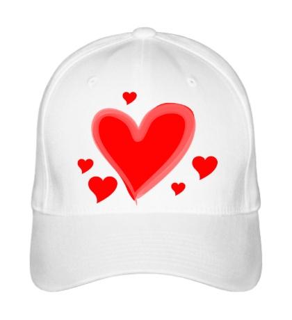 Бейсболка «Сердечки»