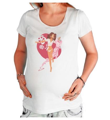 Футболка для беременной Модница
