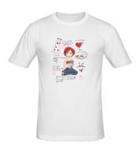 Мужская футболка Мысли девушки